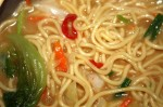 noodle soup with fresh egg noodles